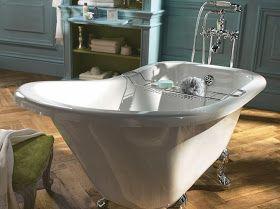 1000 id es sur le th me salle de bains avec baignoire - Baignoire pied de lion castorama ...