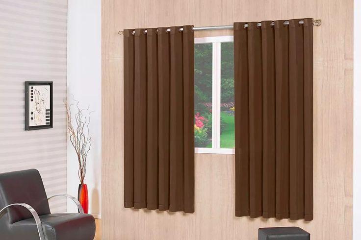 cortina rústica tabaco janela 2,00mx1,80 t- oferta admirare
