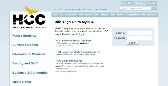 HCC Login