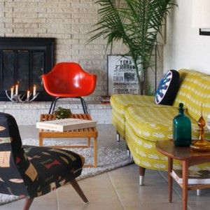 Mid Century Furniture In Baton Rouge Clients Living Room
