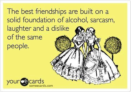 The best friendships...