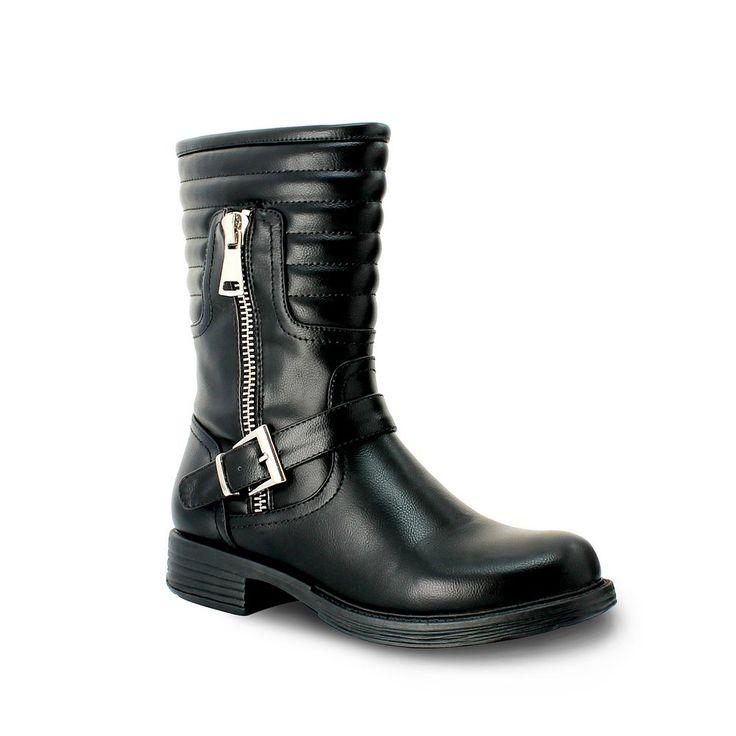 Olivia Miller Delancey Women's Motorcycle Boots, Size: 7.5, Black