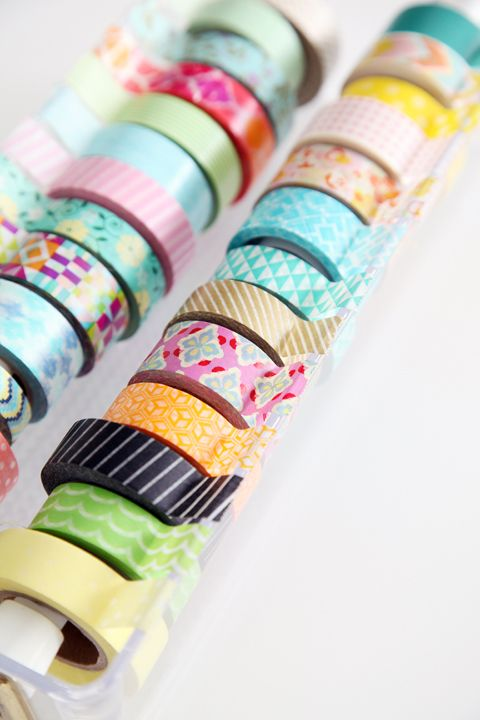 IHeart Organizing: DIY Washi Tape Organizer