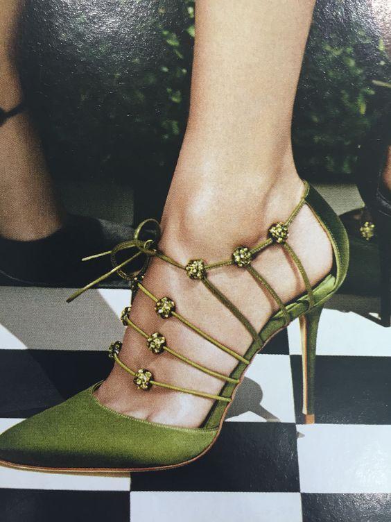 Gorgeous green Manolo Blahnik pumps