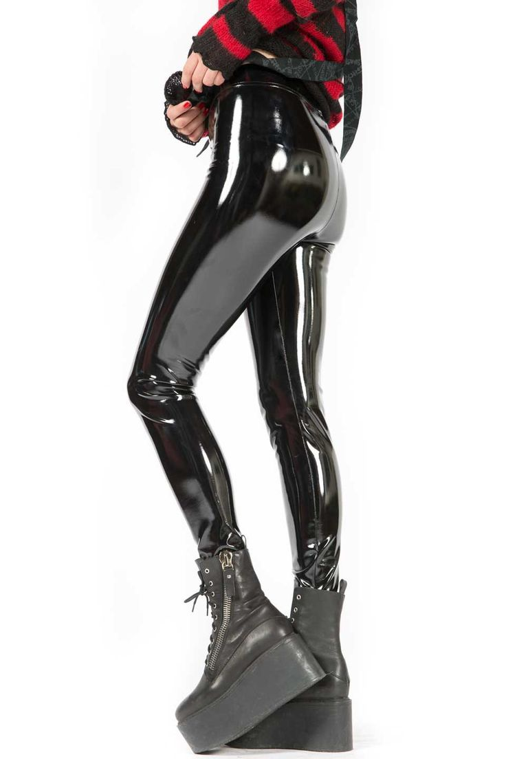 LIP SERVICE 4-Way Stretch PVC Leggings #LS-121