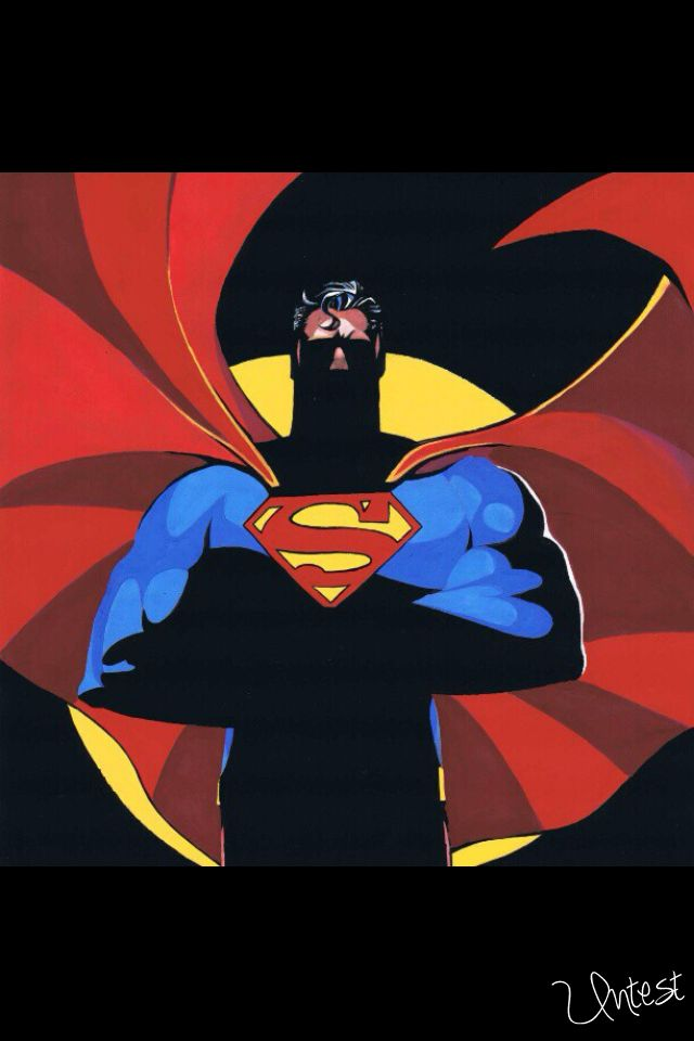 my very first attempt at painting the big guy in blue. #art #comics #illustration #Superman