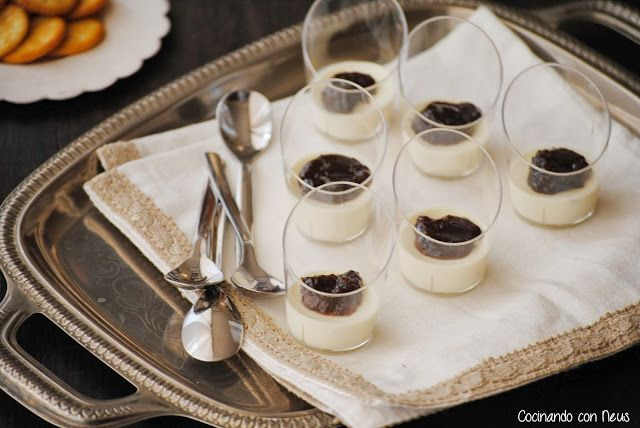 Cocinando con Neus: Vasitos de pannacotta de parmesano con salsa de uva y almendras Can Bech