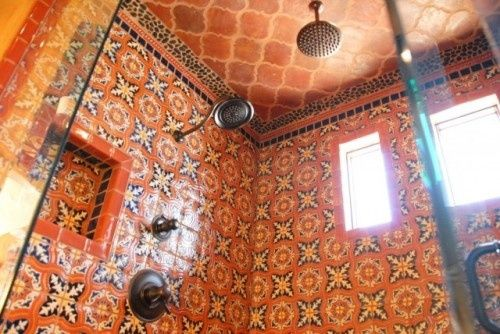 Orange Talavera Tile   Indeed Decor
