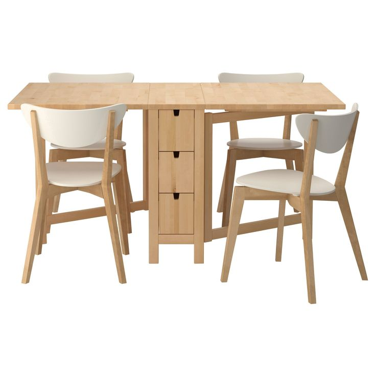 Gorgeous Small Dining Table That Can Be Folded Complete With The Chairs Inspirational Foldable
