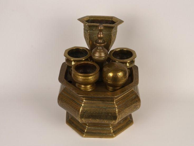 A 19th C. 'malay' Brass Pedestal Betel / Sirih Stand, (tcharanos) - East Java, Indonesia.   480967   www.wjmantiques.com