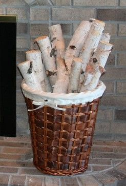 Birch Bundle of Logs, Set of 8 - Rustic - Fireplace Accessories ...