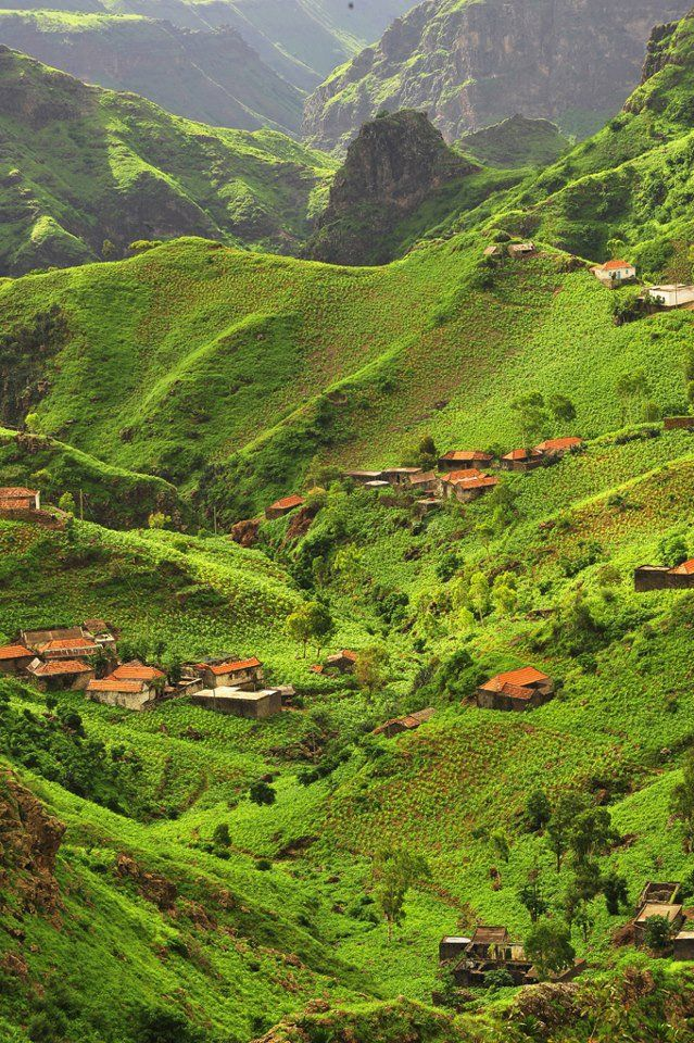 Santiago island in rainy season - Cape Verde