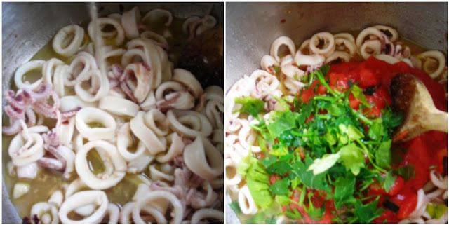 Pressure Cooked Calamari Tomato Sauce or Side Dish! | hip pressure cooking