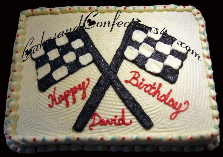 Cake Decorating Checkered Flag : Checkered Flags Cakes and CupCakes Pinterest Flags ...