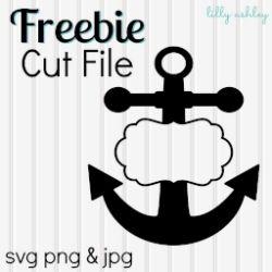 Make it Create by LillyAshley...Freebie Downloads: Free Anchor SVG File