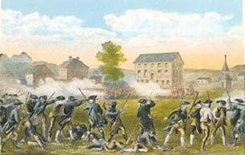 First Shots fired at Lexington