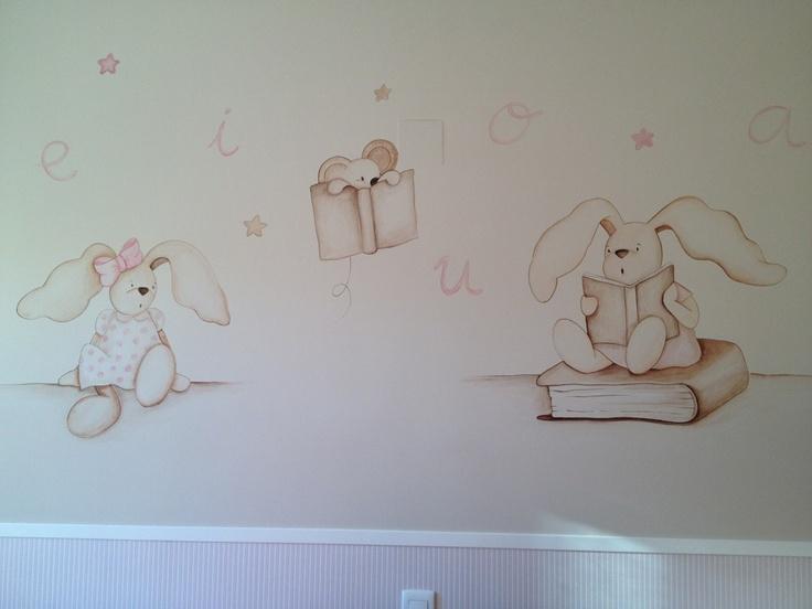 Murales conejitos para dormitorios infantiles murales - Murales para dormitorios ...