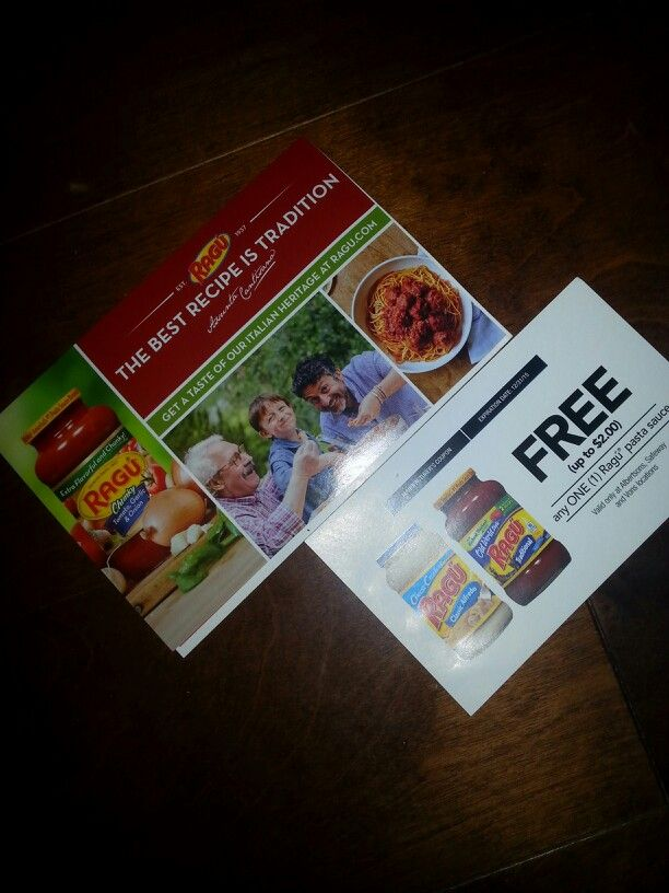I received 2 coupons for Ragu in my #ComfortVoxBox and I am so excited! One is for a FREE jar of Ragu Pasta Sauce and .55cents off any 2!