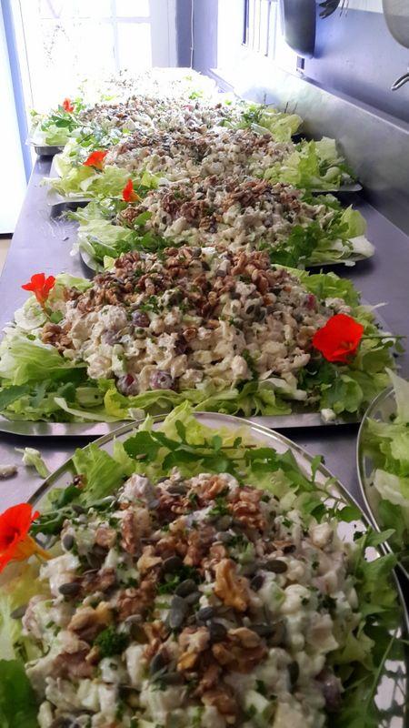 Chicken and pasta Waldorf Salad