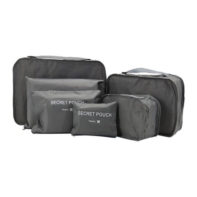 1f40fa8a93b1 Travel Waterproof Nylon Zipper Mesh Storage Bag Set For Clothes ...