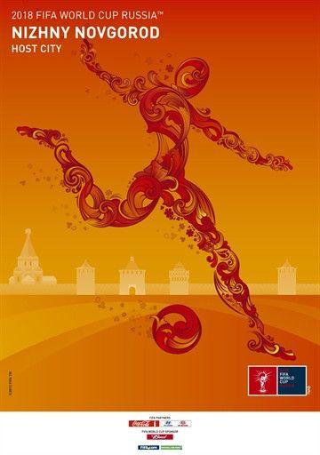 2018 FIFA World Cup Russia - Nizhny Novgorod (Host City) POSTER