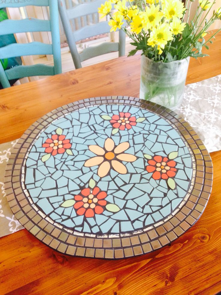 Handmade lazy Susan by a family friend. Beautiful