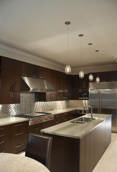East Teak | Wenge Kitchen In Upscale Dallas Residence - East Teak