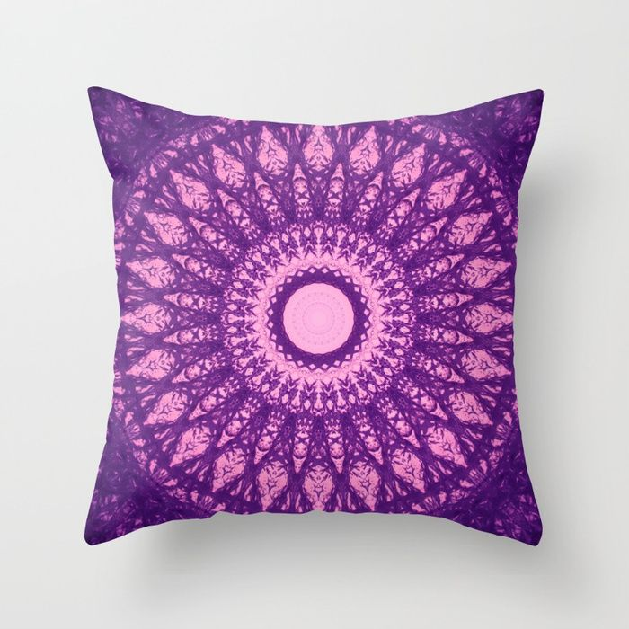 MANDALA NO. 32 Throw Pillow #ultraviolet💕💕 pillows  Cute and kawaii designs on pillows  for teens, girls and kids. Find decorative pillows for bedroom, with sayings or beautiful designs. #design #decor #society6 #cute #kawaii #pillow #pillows #sboar #lovely #interior #home #bedroom #bedroomdecor #animals #pets #wild #flower #floorpillow #mermaid