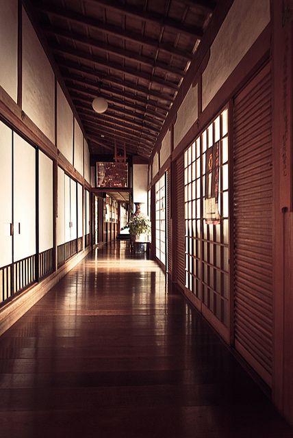 Corridor of Muryoko-in temple, Koya-san, Japan