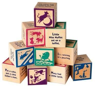 Mother Goose Nursery Rhyme Blocks  $11.95