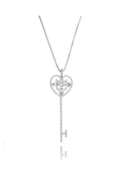 825c51c131209 ... Waufen Semi Joias. Colar-chave-tiffany-prata-inspired -grande-com-corrente-