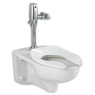 American Standard Afwall EverClean Dual Flush Elongated Toilet Bowl