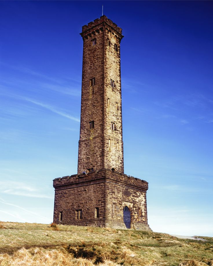 Peel Tower of Bury, Lancashire shot on Fuji Velvia 5x4 film.