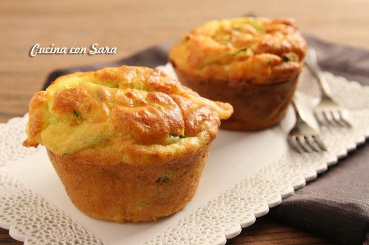 Muffins salati asiago e zucchine, cucina con sara