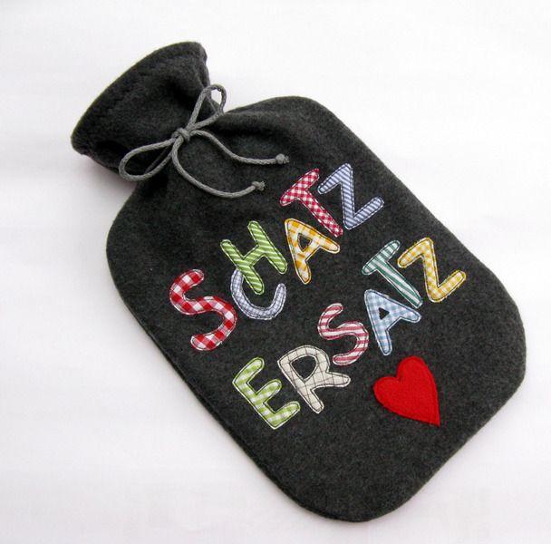 Wärmflaschenbezug ♥für den Schatz♥ von GerdasStichelei auf DaWanda.com