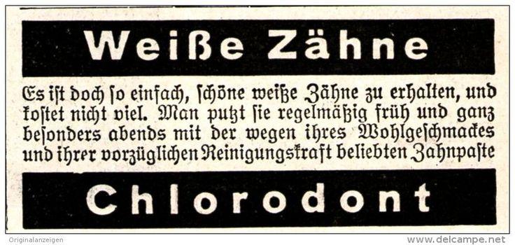 Original-Werbung/ Anzeige 1930 er Jahre - CHLORODONT - ca. 65 x 30 mm