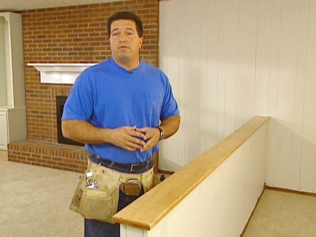 how to build a half wall railing
