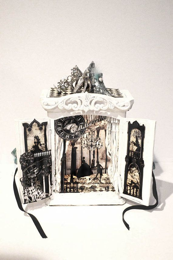 Cinderella shadow box  Diorama night lumier by Swanky Egg on Etsy