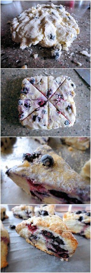 Blueberry Scones | Bake a Bite