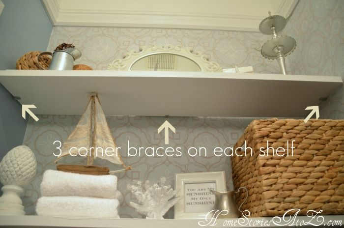 How to install floating shelves.