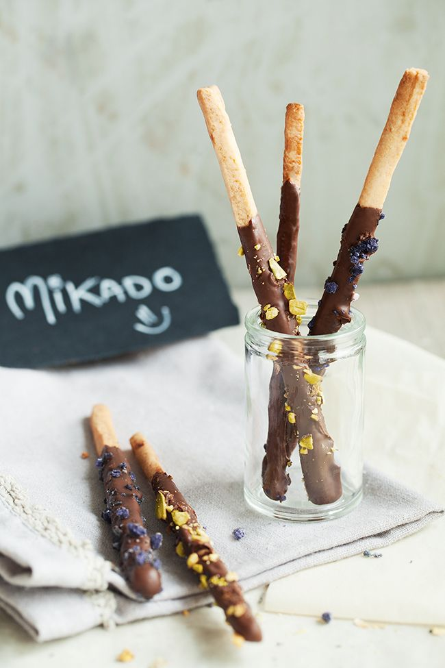 Cro'K'Mou - Blog culinaire - Food & Photography: Mikado maison (ou bâtonnets sablés au chocolat)