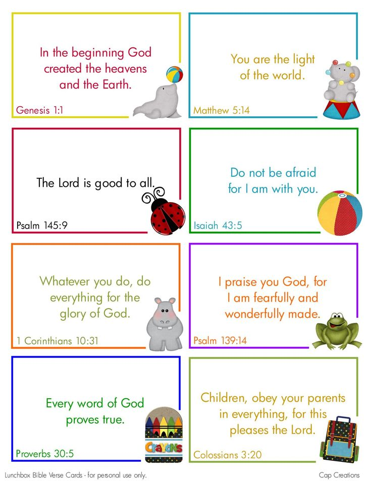 Free Printable Lunchbox Bible Verse Cards cute....could use these with the kids
