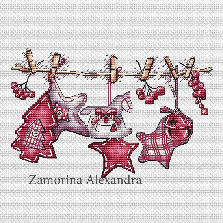 """Cross stitch design """"Festive ribbon"""" #sa_stitch #sa_pattern #pattern #crossstitch"""