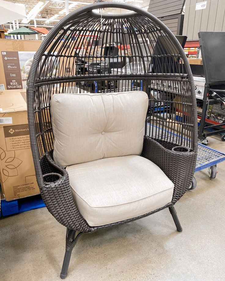 Egg chair love 💕. These are pricer than the Walmart ones