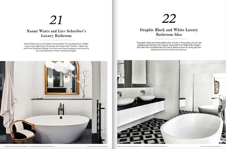 """On the following pages, you will find 100 Must-See Luxury Bathroom Ideas that will open up your horizons as to how innovative one can get as far as using bathtubs is concerned 