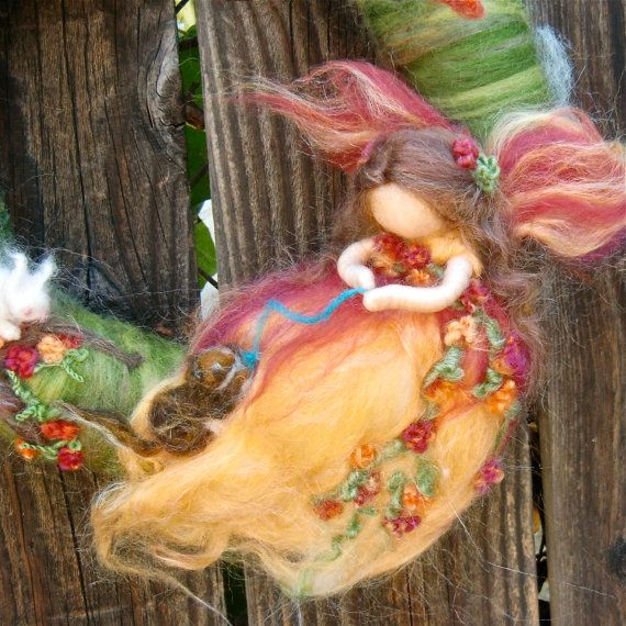 ♥ Felty Fairy Wreath Detail ♥