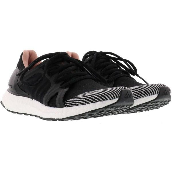 Adidas By Stella Mccartney Ultra Boost Sneakers ($205) ❤ liked on Polyvore featuring shoes, sneakers, black, adidas sneakers, adidas, black trainers, adidas shoes and adidas trainers
