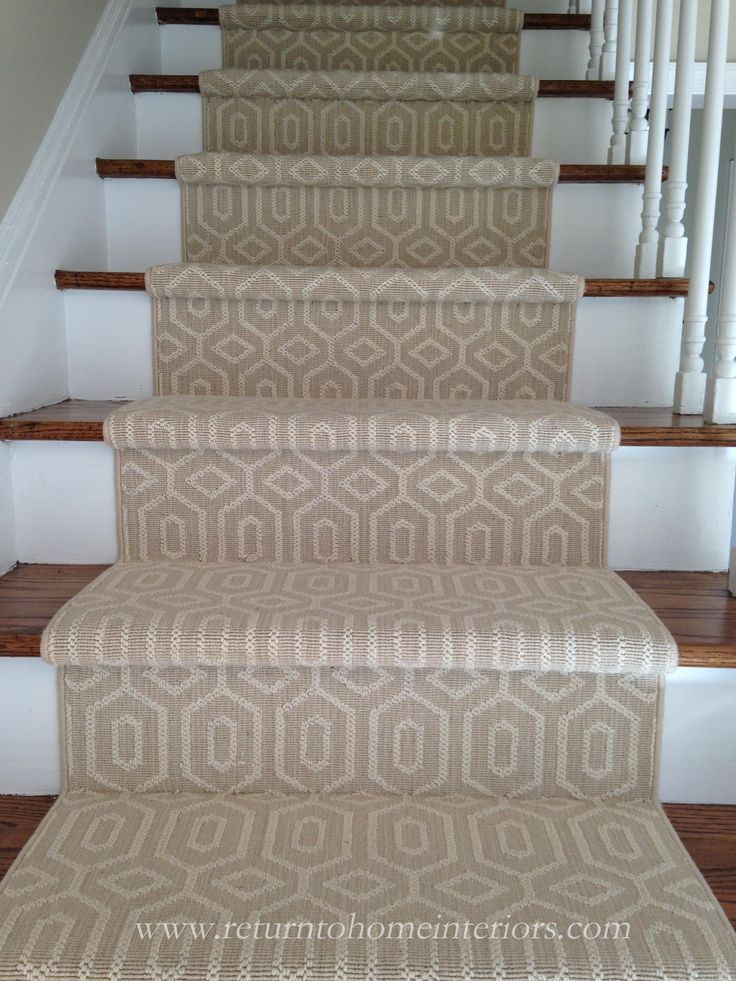 Choosing a Stair Runner: Some Inspiration and Lessons Learned  This is a Stanton carpet called Fillmore in Linen