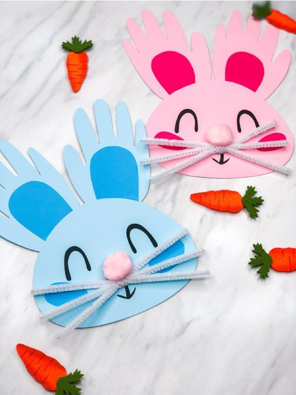 Handprint Bunny Craft For Kids Bunny Crafts Rabbit Crafts