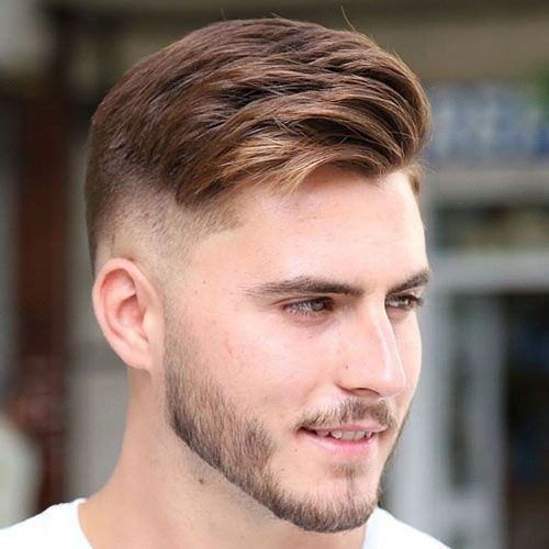 Textured Comb Over with High Fade and Beard